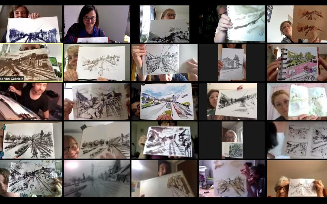 Virtueller Sketchwalk im Juni2020