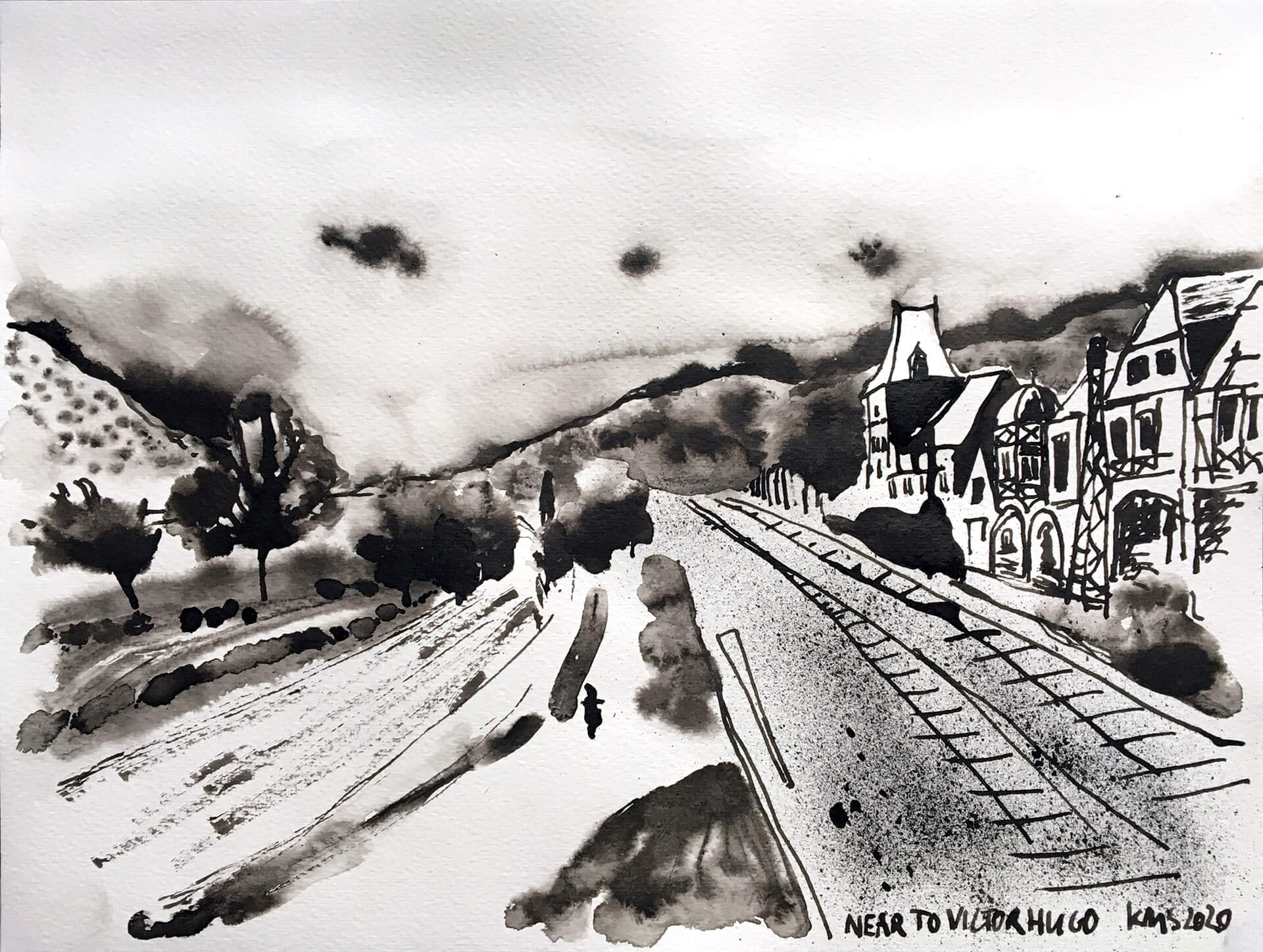 Mueller-Schmied_Karin-Haeuser-Stadtmauer-mit-Bahngleisen