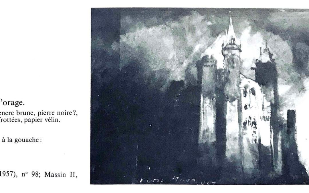 Burg im Gewitter