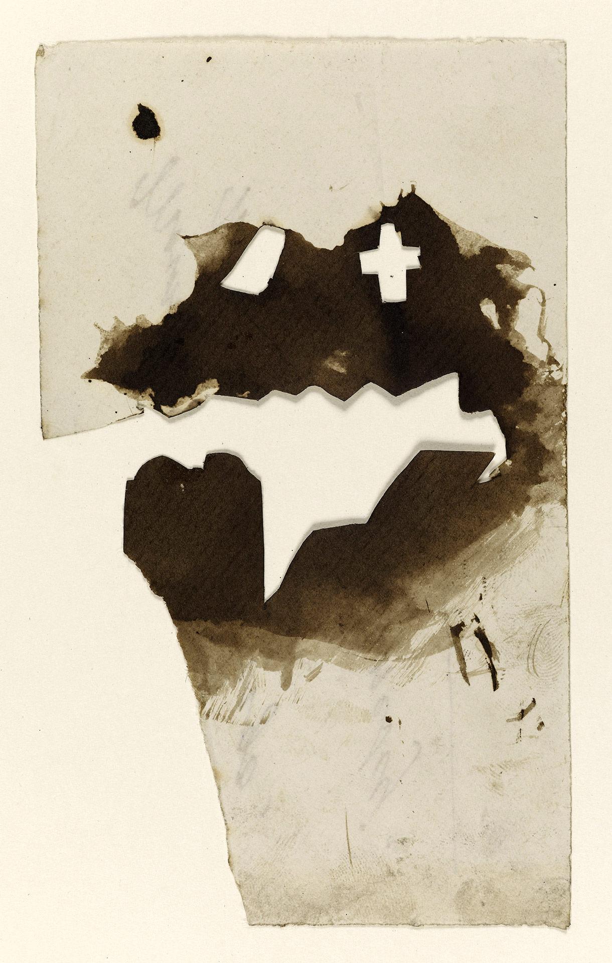 Papier decoupe avec une croix etude pour la tombe de leopoldine